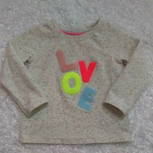 Cat & Jack Colorful Love Speckled sweatshirt